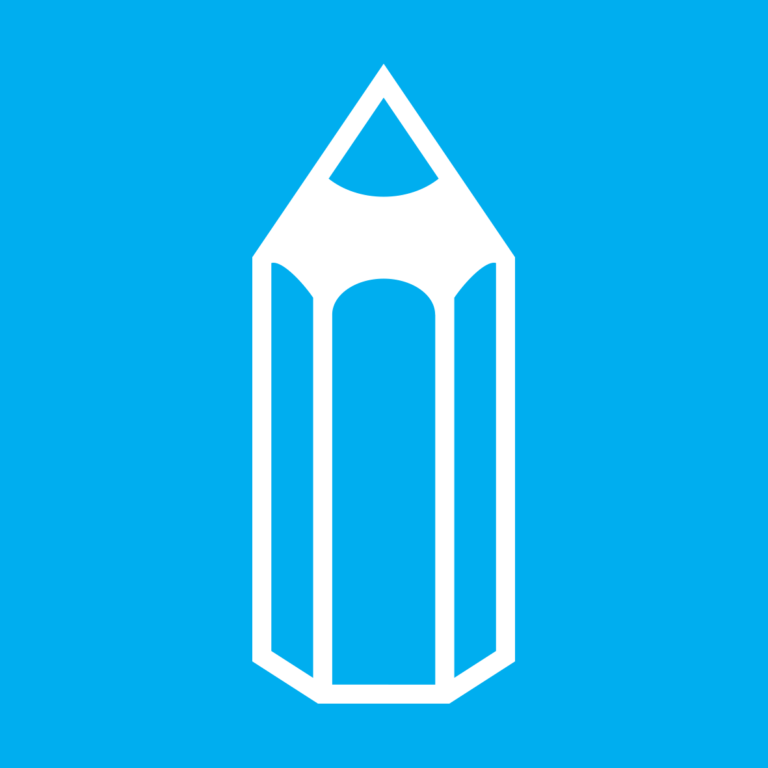 Icon, graphic: pencil, school, supplies, learning, education