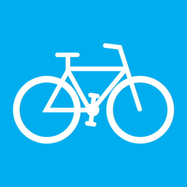 Graphic icon to represent a bicycle