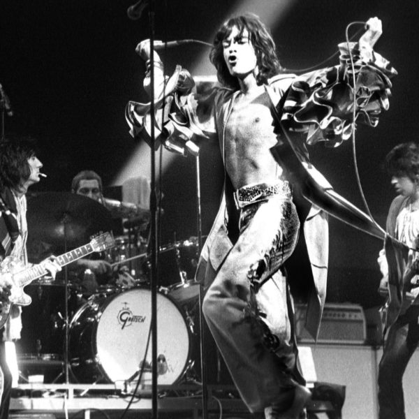 The Rolling Stones perform live on stage at the Forest National in Brussels, Belgium